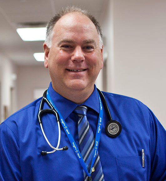 Dr. Shawn Ewbank is the primary care physician at Senior LIFE Washington and Senior LIFE Greene.