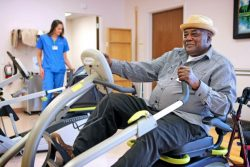 Physical therapy at the Senior LIFE Health and Wellness Center.
